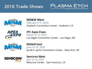 2016 Trade Show Schedule